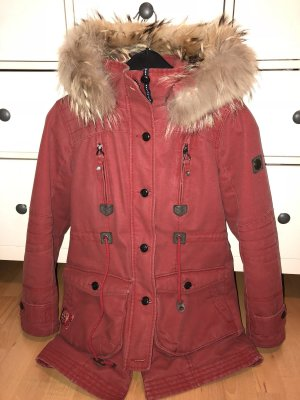 Sailer and Brides Winterjacke in rot mit Fell