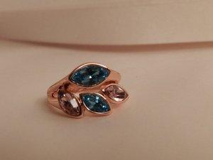 Saint Francis Swarovski® Crystals Ring Rosegoldfarben/Multi – Gr. 56 - Neu