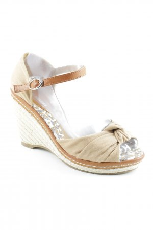 Saint Galant Strapped High-Heeled Sandals beige casual look