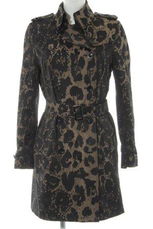 Saint Jacques Trenchcoat schwarz-sandbraun abstraktes Muster Casual-Look