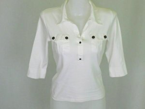 Polo Shirt white cotton