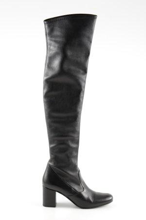 Saint Laurent Absatz Stiefel schwarz extravaganter Stil