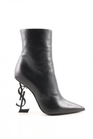 "Saint Laurent Ankle Boots ""Opyum Ankle Boots Leather Black"" schwarz"