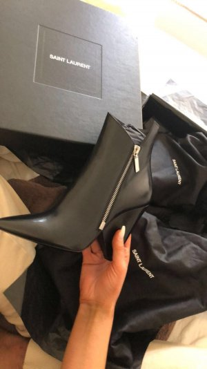 Saint Laurent ankle boots schwarz Reißverschluss