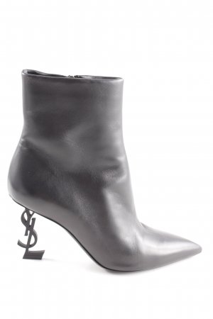 "Saint Laurent Ankle Boots ""YSL Opyum 85 Boots Leather Black"" schwarz"