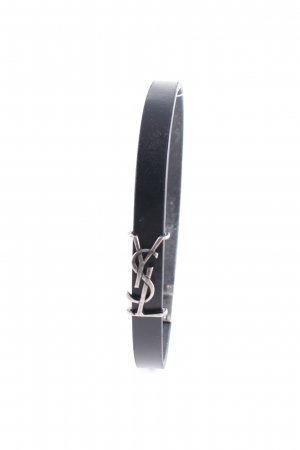 "Saint Laurent Armband ""YSL Logo Bracelet Leather Black"" schwarz"