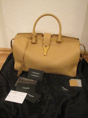 Saint Laurent Carry Bag cream leather
