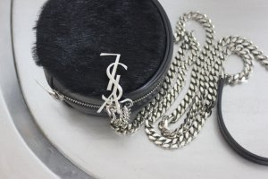 SAINT LAURENT Calf Hair Tasche rund YSL Yves Designer Umhängetasche