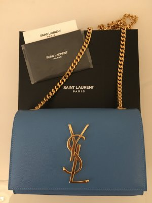 Saint Laurent Classic Small Kate Monogram blue
