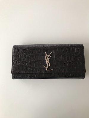 Saint Laurent Pochette noir-argenté cuir