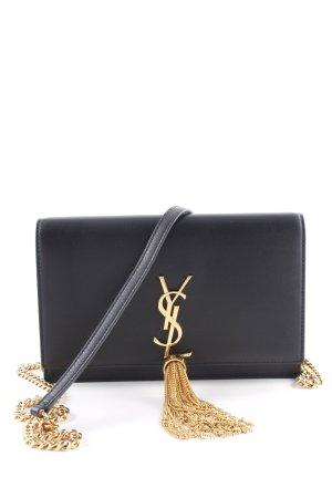 """Saint Laurent Clutch """"Monogram Chain Wallet Tassel Black/Gold"""" zwart"""