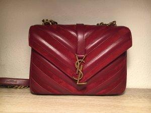 Saint Laurent Crossbody bag brick red-carmine leather