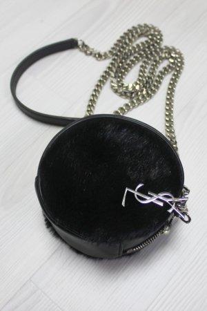 SAINT LAURENT Crossbody Calf Hair Tasche Bag rund YSL Yves Designer