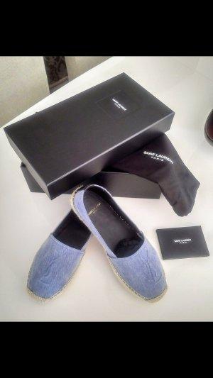 Yves Saint Laurent Espadrille sandalen korenblauw
