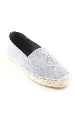 "Saint Laurent Espadrille sandalen ""Denim Stone Wash "" korenblauw"