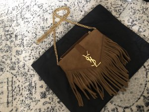 Saint Laurent Fringe Monogram Tasche Bag Crossbody Bandouliere Suede Fransen