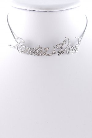 "Saint Laurent Necklace """"Choker """"Rendezvous"""" Silver"""" silver-colored"