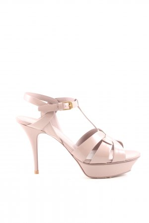 "Saint Laurent High Heel Sandaletten ""Tribute Sandals Leahter Rose Antique"""