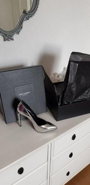 Saint Laurent High Heels silber