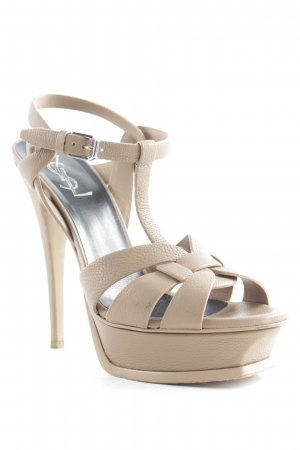 "Saint Laurent High Heels ""Tribute Sandals Chamois "" beige"