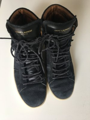 Saint Laurent High Top Sneaker Gr. 41 dunkelblau Top