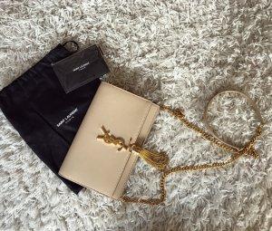 Saint Laurent Kate Bag Nude Leder YSL Logo Luxus Crossbody Bandouliere