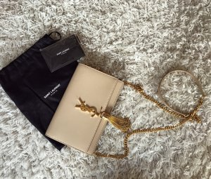 Saint Laurent Kate Bag Nude Leder YSL Logo Luxus Crossbody Bandouliere