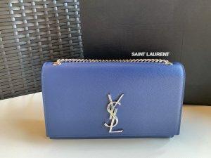 Saint Laurent Bandolera azul-color plata