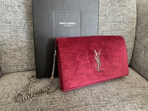 Saint Laurent Kate Velvet shoulder bag crossbody