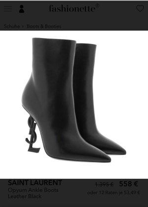 Saint Laurent Ankle Boots black leather