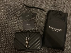 Saint Laurent Borsetta mini nero-argento