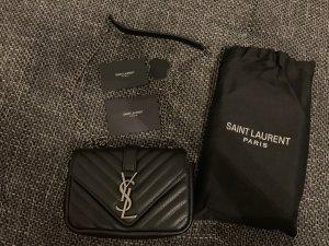 Saint Laurent Minitasje zwart-zilver