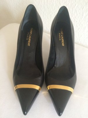SAINT LAURENT Paris: Pumps Gr.38 schwarz Leder! Original! Top Qualität!