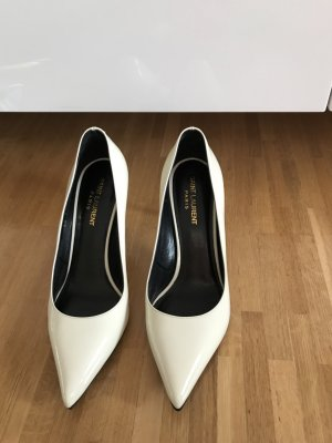Saint Laurent Paris Pumps Weiß / Creme