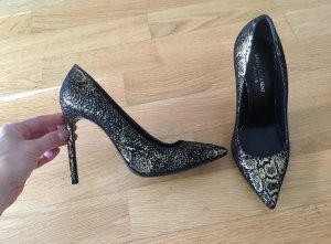 Saint Laurent Pumps, Schwarz Gold, 37,5