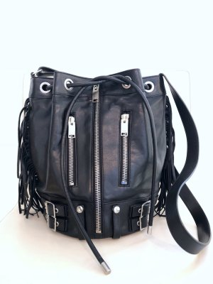 Saint Laurent Rider Fringed Leather Bucket Bag