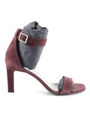 Saint Laurent Riemchen-Sandaletten purpur schlichter Stil