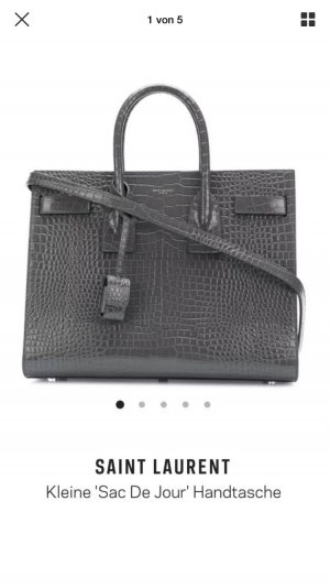 Saint Laurent Sac De Jour Croc in grau