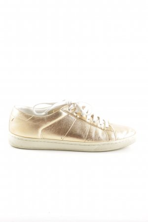 Saint Laurent Schnürsneaker goldfarben Glanz-Optik