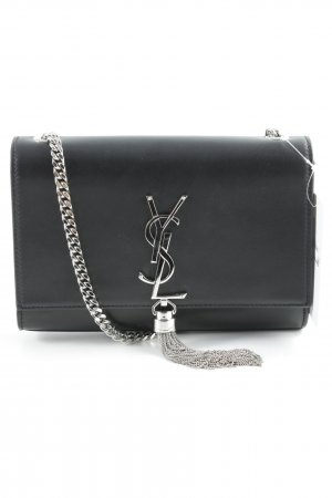 Saint Laurent Shoulder Bag black-silver-colored elegant