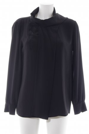 Saint Laurent Seidenbluse schwarz Elegant