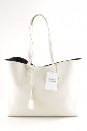 "Saint Laurent Shopper ""Large Shopping Tote Bianco Nero """
