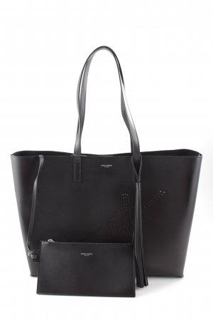 "Saint Laurent Shopper ""Shopping Bag Perforated Vintage Leather Black"""