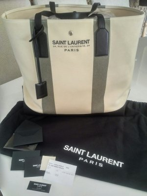 Saint Laurent Shopper licht beige