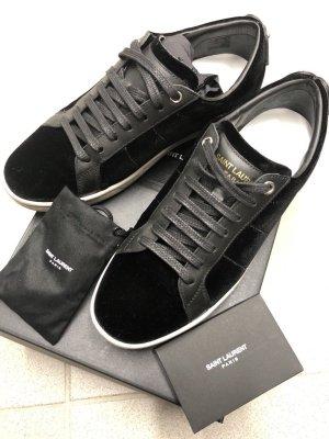 Saint Laurent Sneaker schwarz Samt Gr. 37,5