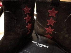 Saint Laurent Stiefeletten mit Sternen - Gr. 36