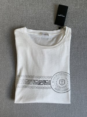 Saint Laurent T-shirt blanc cassé