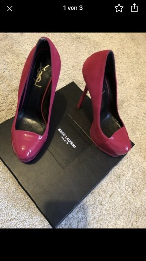 Saint Laurent Tribute Pumps Wildleder Pink