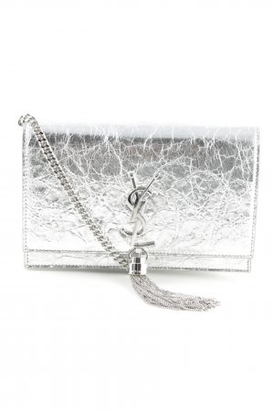 "Saint Laurent Borsa a spalla ""Kate Toy "" argento"