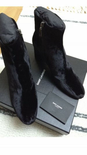 Saint Laurent Velvet Samt Ankle Boots Loulou Gr. 41 neu